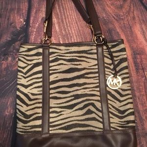 Michael Kors Zebra Canvas Bag